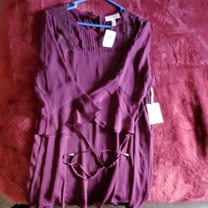 Red wine color blouse